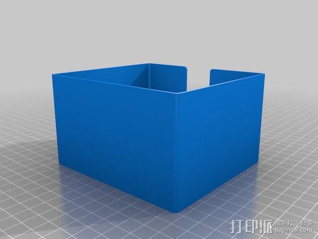 方形杯垫收纳盒 3D模型  图3