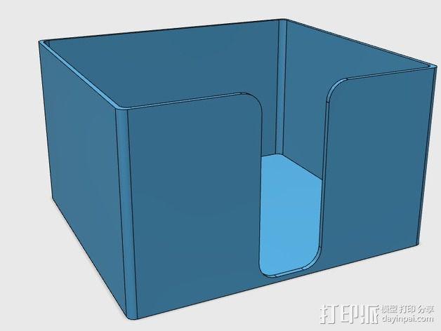 方形杯垫收纳盒 3D模型  图2