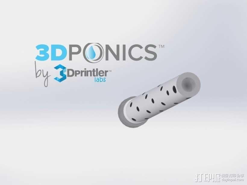 水培系统:塑料瓶制浇水装置 3D模型  图1