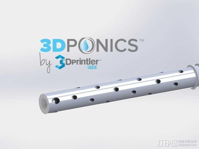 水培系统:塑料瓶制浇水装置 3D模型  图4