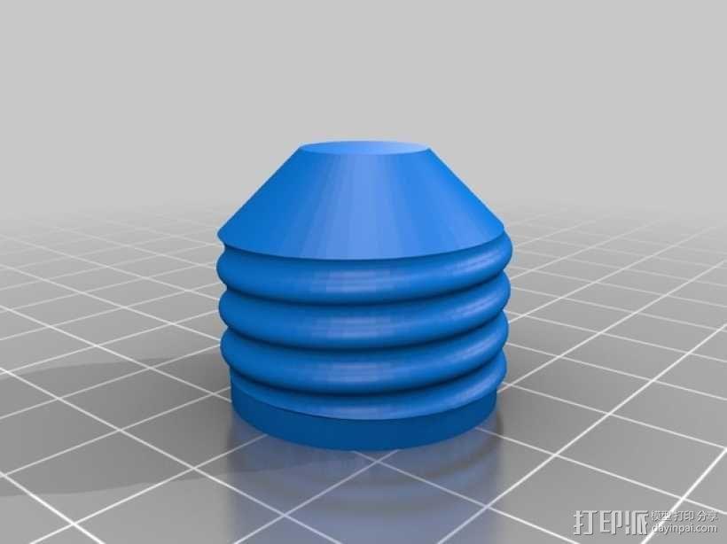 劳氏太阳能枝形吊灯电灯泡配适器 3D模型  图1