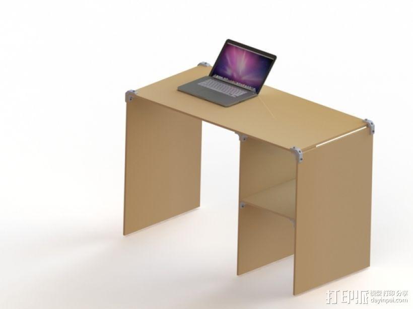 模块化桌角 3D模型  图1