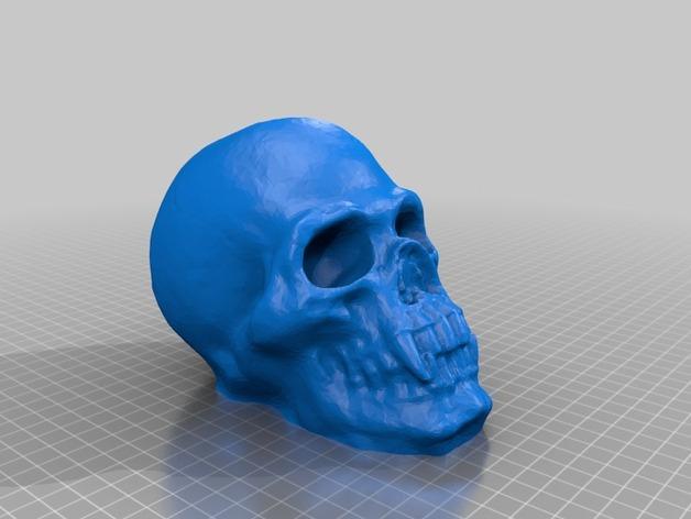 骷髅头存钱罐 3D模型  图1