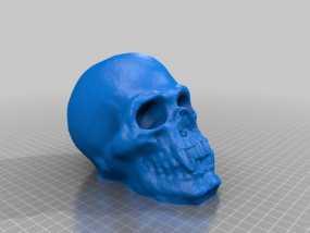 骷髅头存钱罐 3D模型