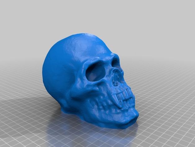 骷髅头存钱罐 3D模型  图2