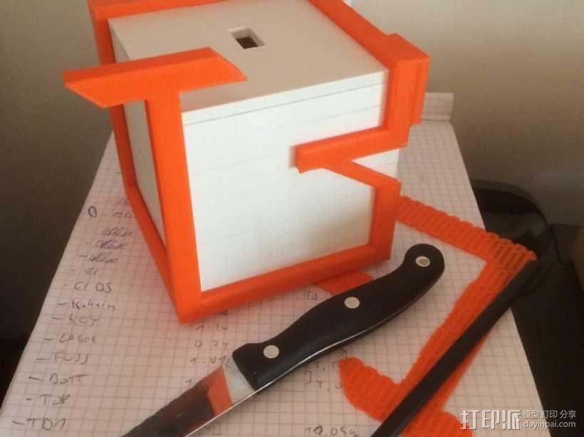 迷你捐赠箱 3D模型  图1