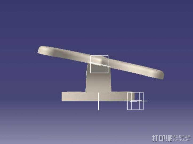 吊扇底部支架 3D模型  图4