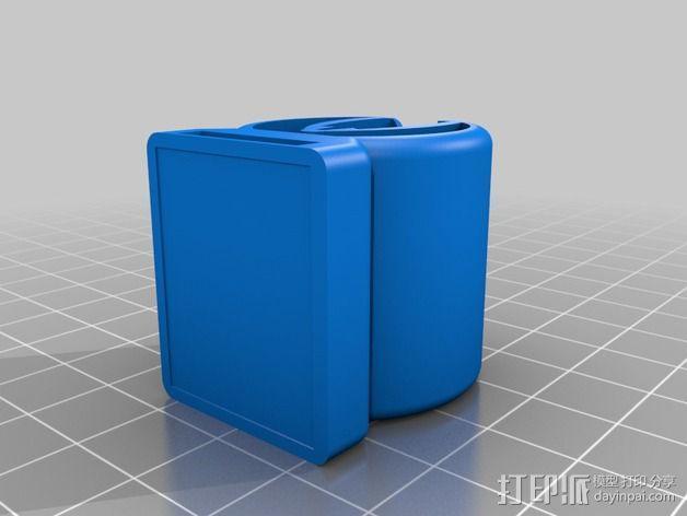 钓鱼竿固定夹 3D模型  图2
