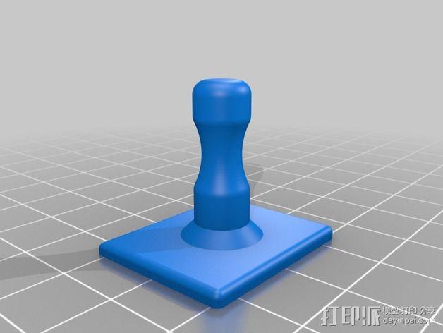 钓鱼竿固定夹 3D模型  图4