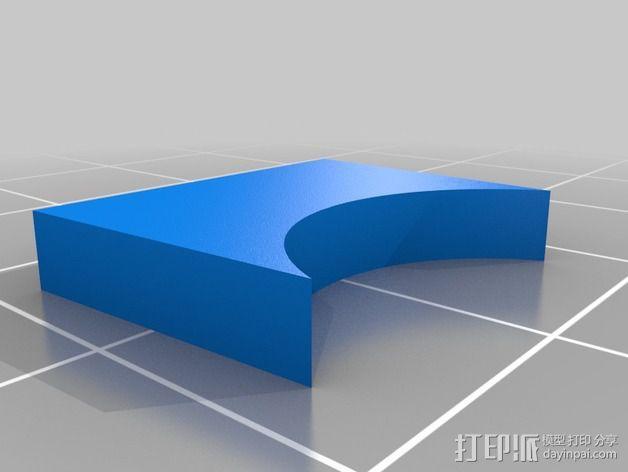 钓鱼竿固定夹 3D模型  图5