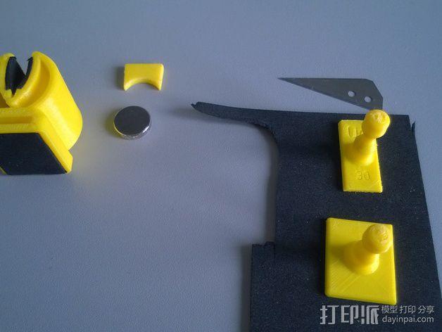 钓鱼竿固定夹 3D模型  图6