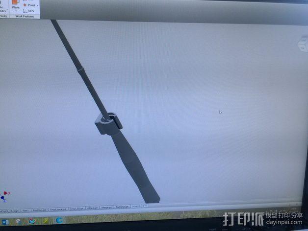 钓鱼竿固定夹 3D模型  图7