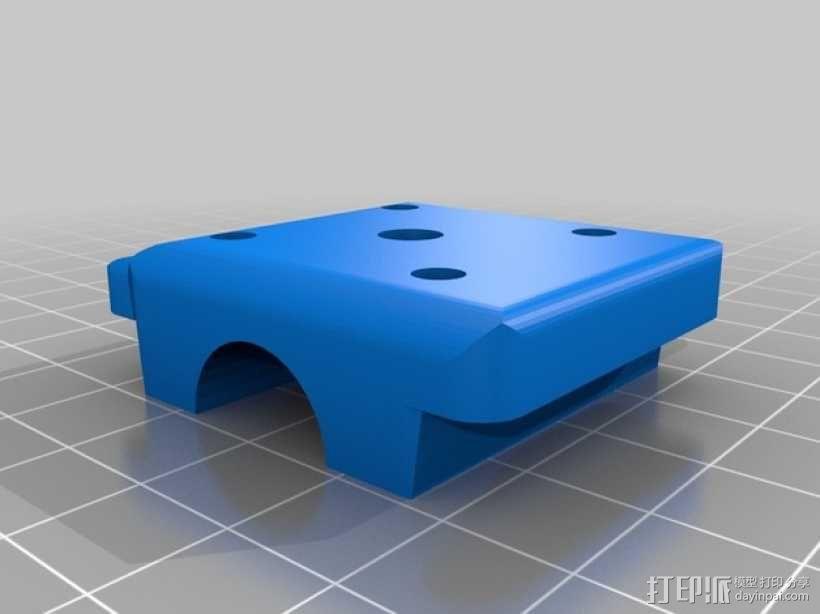 桌式足球玩偶运动员 3D模型  图2