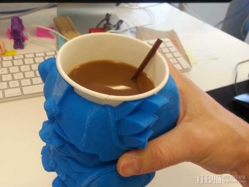 迷你Aztec纸杯杯托 3D模型  图1