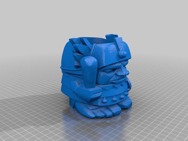 迷你Aztec纸杯杯托 3D模型  图2