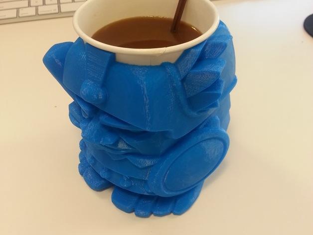 迷你Aztec纸杯杯托 3D模型  图3