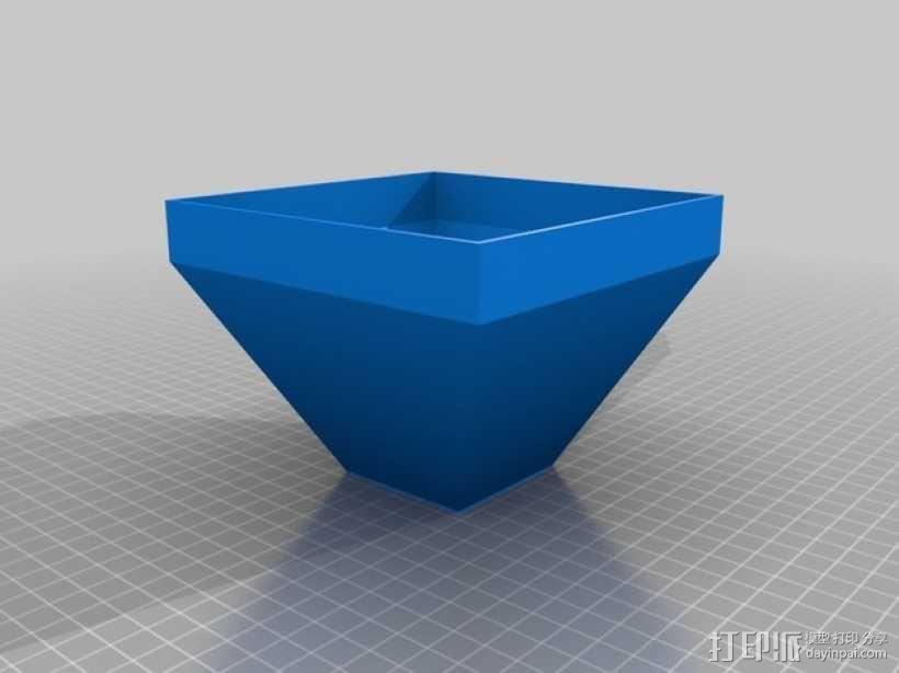 壁挂式盆栽盆 3D模型  图3