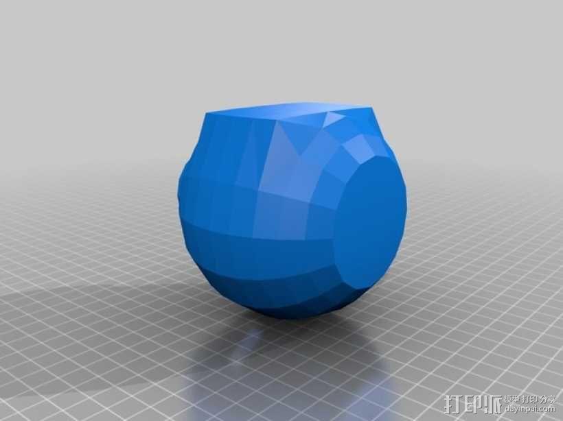 迷你圆形仓鼠小屋 3D模型  图4