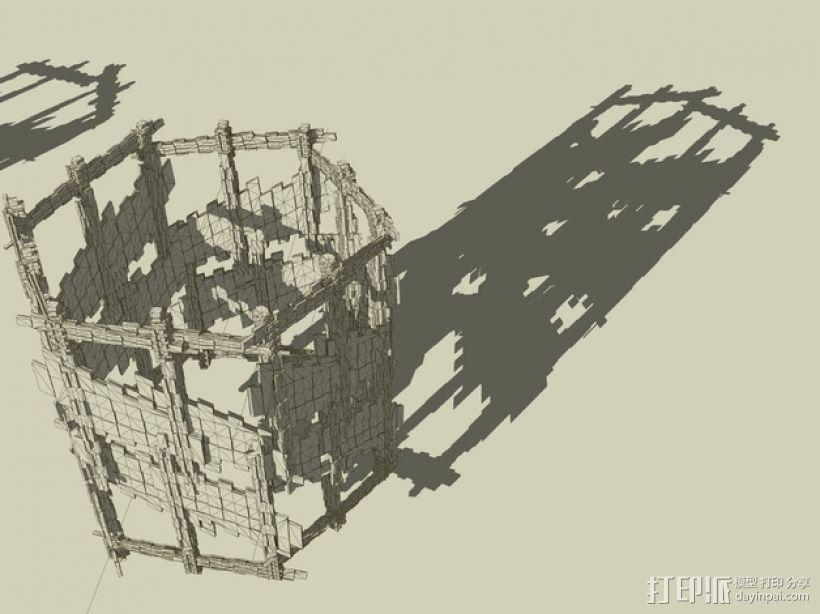 十二面体灯罩 3D模型  图2