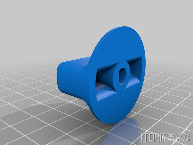 通用洗碗机/烘干机按钮 3D模型  图2