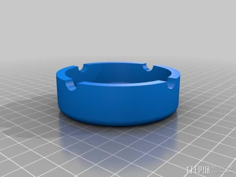 圆形烟灰缸 3D模型  图2