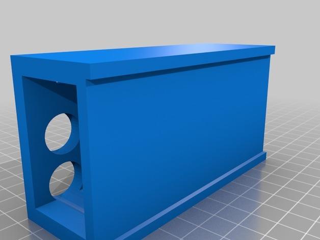 电池架/U盘架 3D模型  图2