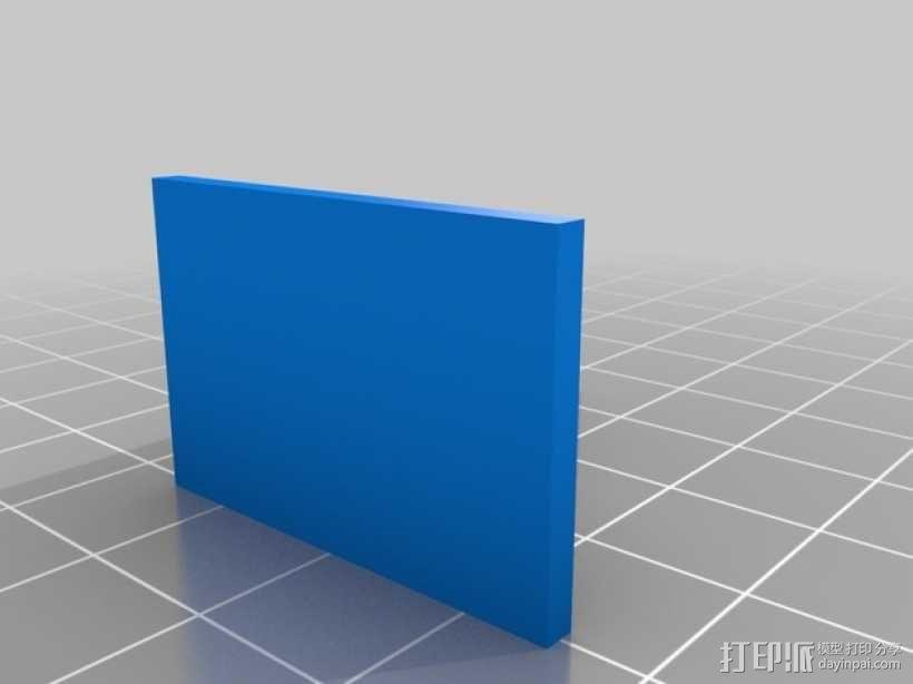 万能角钢货架挂钩 3D模型  图4