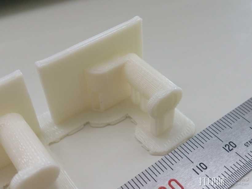 万能角钢货架挂钩 3D模型  图3
