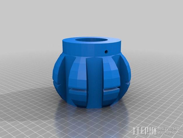 遮阳伞伞顶 3D模型  图2