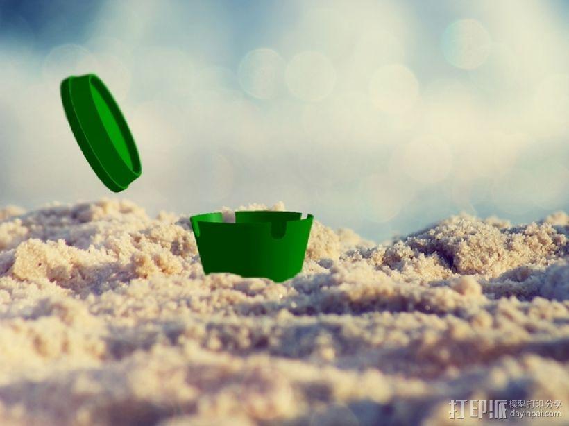 沙滩烟灰缸 3D模型  图1