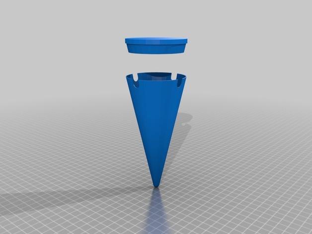 沙滩烟灰缸 3D模型  图3