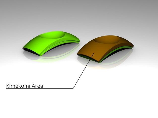 圆弧形小饰品底座 3D模型  图3