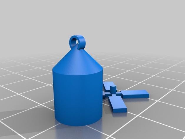 西班牙风格的酒杯挂件 3D模型  图3