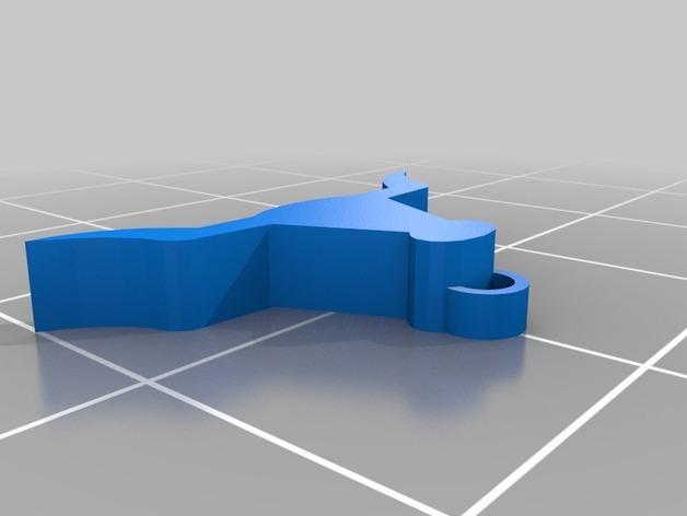 西班牙风格的酒杯挂件 3D模型  图5