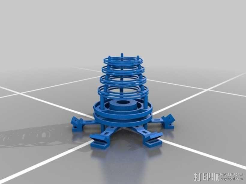 个性化圆形灯罩 3D模型  图3