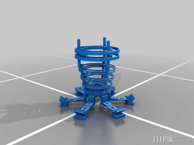 个性化圆形灯罩 3D模型  图4