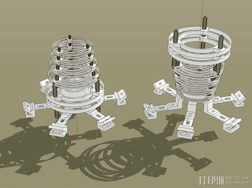 个性化圆形灯罩 3D模型  图5