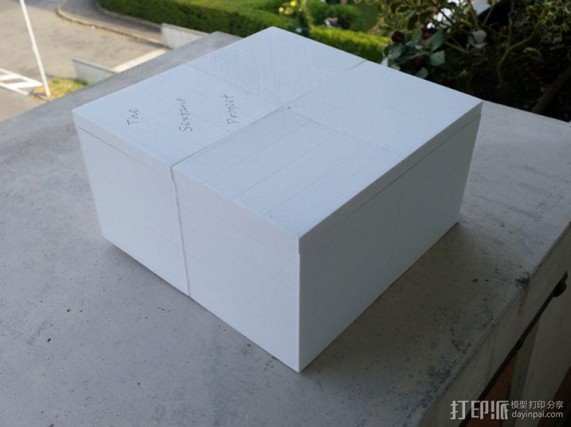 六分仪收纳盒 3D模型  图1
