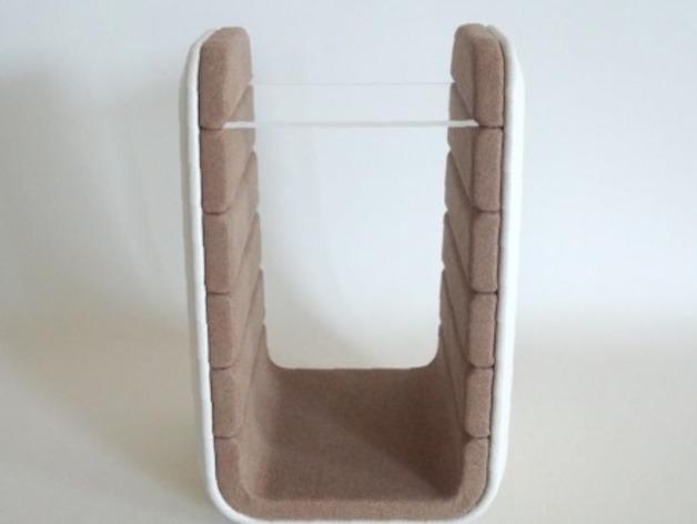 双层小饰品陈列架 3D模型  图2