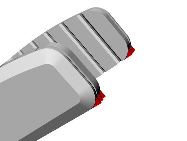 双层小饰品陈列架 3D模型  图4