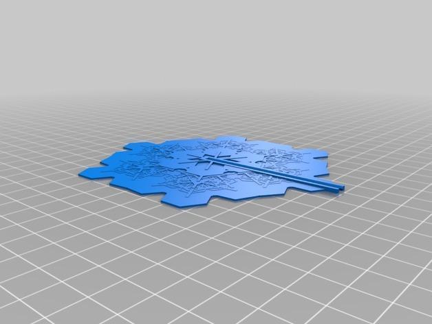 雪花形装饰品 3D模型  图4