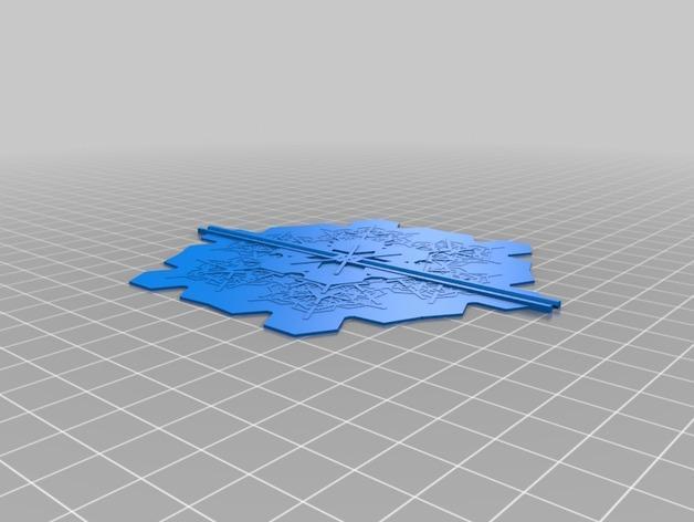 雪花形装饰品 3D模型  图5