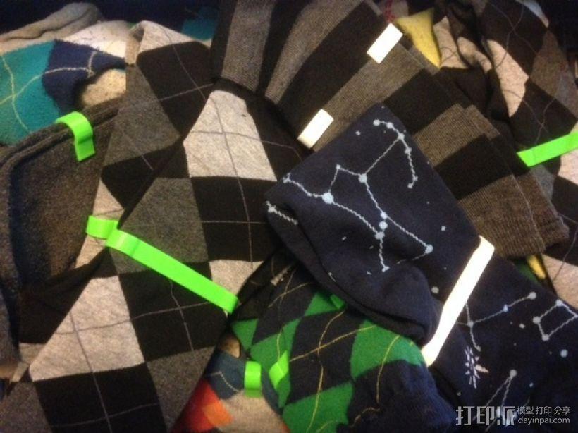 定制化袜子夹 3D模型  图1