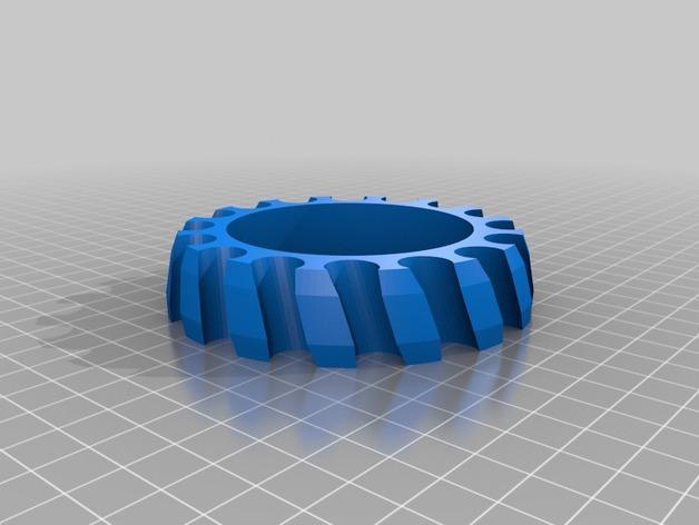 三福记号笔架 3D模型  图1