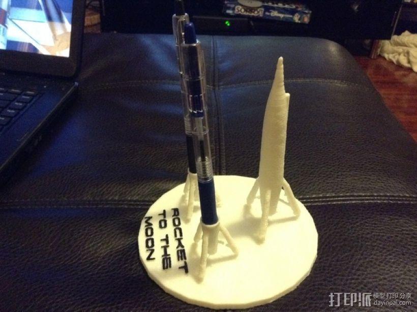 迷你火箭形笔筒 3D模型  图8