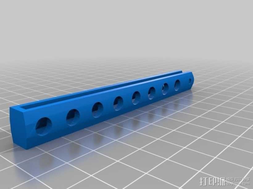 蝴蝶折叠梳 3D模型  图2
