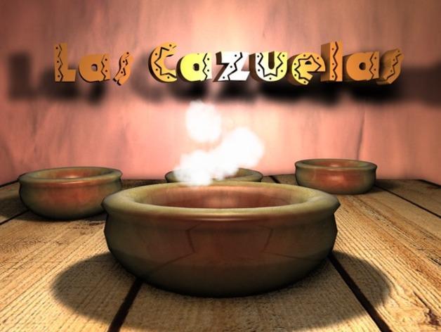 墨西哥传统盘子Cazuela 3D模型  图1