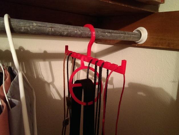 饰扣式领带架 3D模型  图1