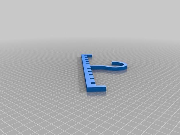 饰扣式领带架 3D模型  图2