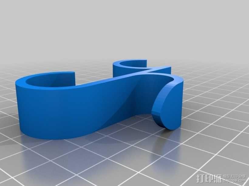 迷你毛巾架 3D模型  图3